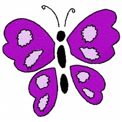 Purple Butterfly embroidery design