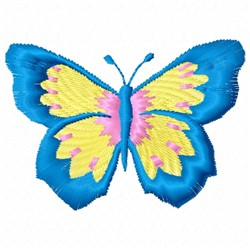 Blue Butterfly embroidery design