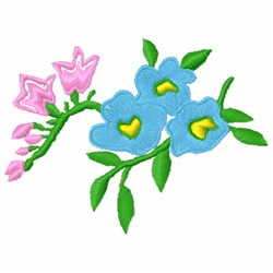 Flowers Stem embroidery design