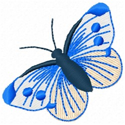 Pink & Blue Butterfly embroidery design