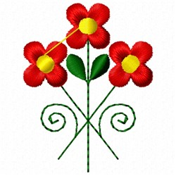 Red & Yellow Flower embroidery design