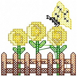 Butterfly Fence embroidery design