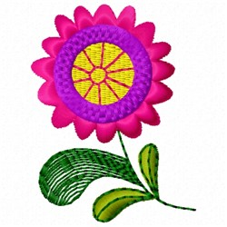 Pink & Purple Flower embroidery design