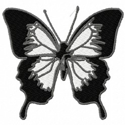 Black Butterfly embroidery design