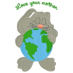 Mother Earth Bunny embroidery design