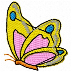 Butterfly Side embroidery design