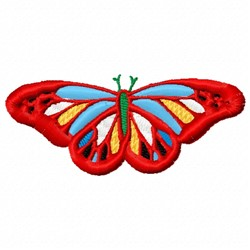 Red Fancy Buttefly embroidery design
