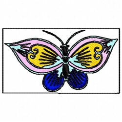 Fancy Butterfly embroidery design