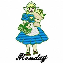Dutch Girl Monday embroidery design