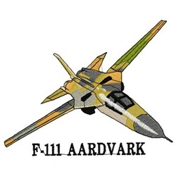 F-111 Aardvark embroidery design