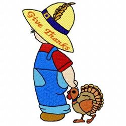 Turkey Boy embroidery design