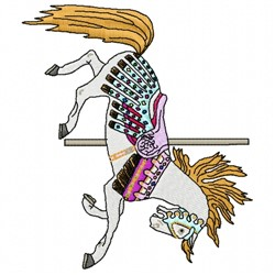 Carousel Stallion embroidery design