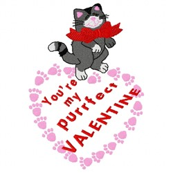 Valentine Kitty embroidery design