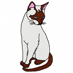 Siamese Cat embroidery design