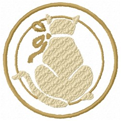 Cat Circle embroidery design