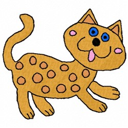 Spotted Cat embroidery design