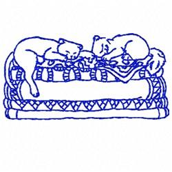 Cat Bluework embroidery design