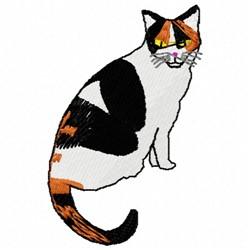 Callico Cat embroidery design