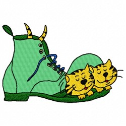 Cat in Boot embroidery design