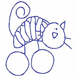 Cat Bluework embroidery design