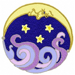 Moon Face embroidery design