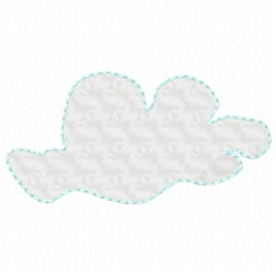 Puffy Cloud embroidery design
