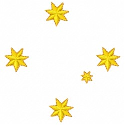 Gold Star embroidery design