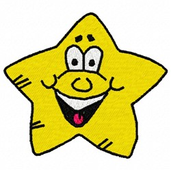 Smiley Star embroidery design