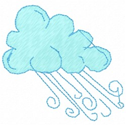 Cloud and Wind embroidery design