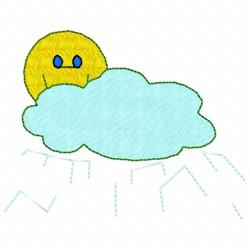 Sun & Rain Cloud embroidery design