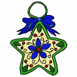 Christmas Star Decoration embroidery design