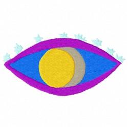 Moon Eye embroidery design