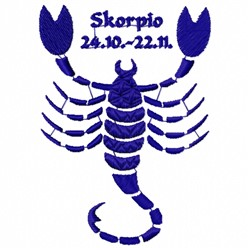Skorpio embroidery design