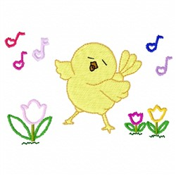 Happy Chick embroidery design