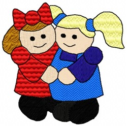 Friendly Girls embroidery design