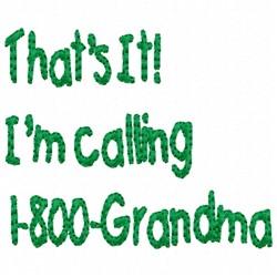 Calling Grandma embroidery design