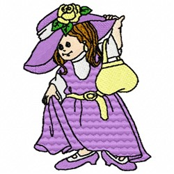 Girl Dress Up embroidery design