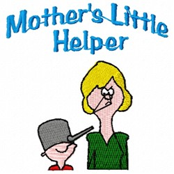 Mothers Little Helper embroidery design