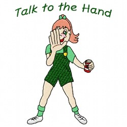 Hand Girl embroidery design