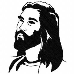Jesus Sketch embroidery design