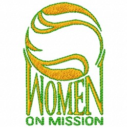 Women On Mission embroidery design