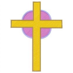 Gold Cross embroidery design