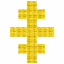 Triple Cross embroidery design