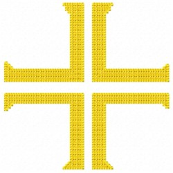 Cross Stripe embroidery design