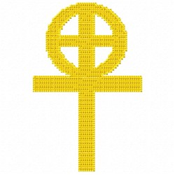 Circle Crosses embroidery design