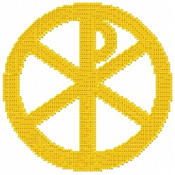 Chi Rho embroidery design