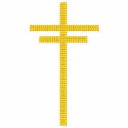 Double Cross embroidery design