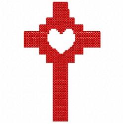 Love Cross embroidery design