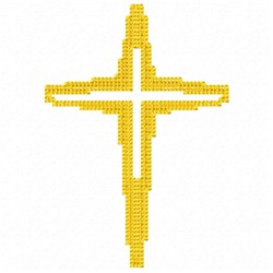 Cross Shadow embroidery design