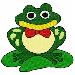 Toad Pad embroidery design